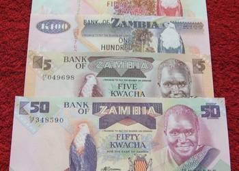 ZAMBIA Kolekcjonerskie Banknoty Zestaw - 4 sztuki UNC