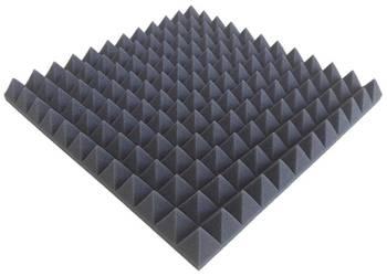 wyciszenie wytłumienie maty piramidki akustyczne 50x50x5 cm