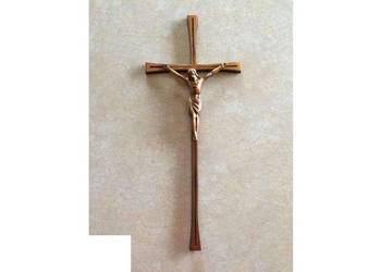 Krzyż nagrobny miedziowany mosiądz granit nagrobek kamień