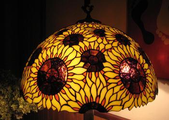 Lampa Witrażowa Słoneczniki