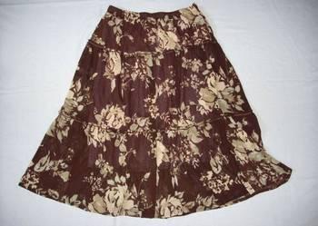 Zwiewna spódnica falbany kwiaty j nowa 44 XXL