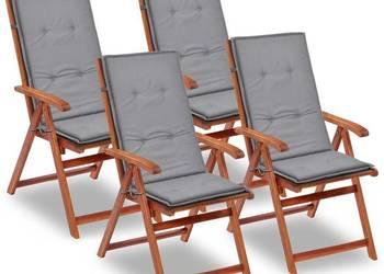 vidaXL Poduszki na krzesła ogrodowe, 4 szt., szare 43180