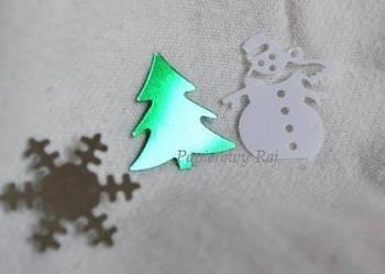 bałwanek choinka śnieg aplikacja kreatywna świąteczne ozdoby