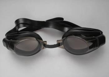 Nowe czarne okulary do pływania