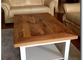 Stolik z blatem ze starego drewna