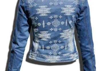 Kurtka Damska Jeans Katana Jeansowa Azteckie Wzory Etno #147