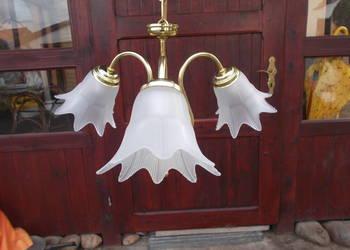 Żyrandol metalowy złoty lampa 3 ramiona WYSYŁKA