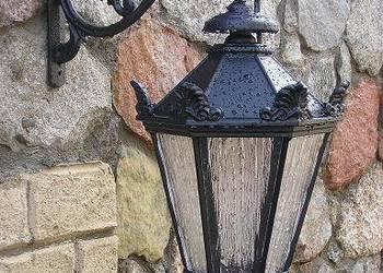 KINKIET ŻELIWNY LAMPA KLOSZ ŻYRANDOL OŚWIETLENIE