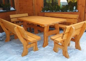 Meble ogrodowe, barowe, drewniane,  z drewna