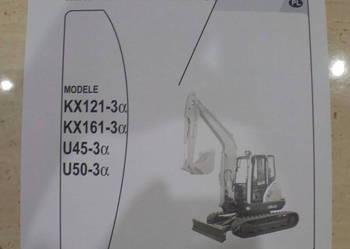 Instrukcja obsługi DTR koparka gąsienicowa Kubota KX161-3
