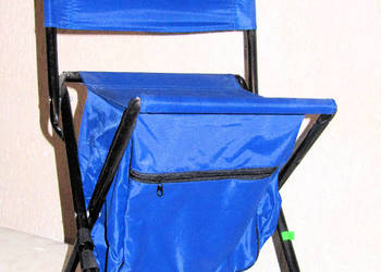 Krzesełko turystyczne - wędkarskie z oparciem i plecakiem.