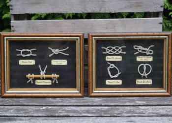 Węzły marynarskie żeglarskie 2 szt (27cm x 21cm)
