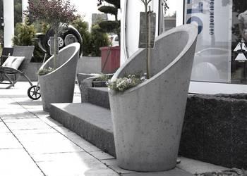 Okrągła donica betonowa