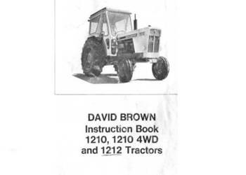 David Brown 1210, 1212 instrukcja obsługi wysyłka !