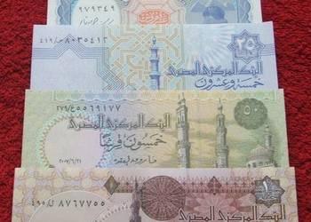 EGIPT Kolekcjonerskie Banknoty Zestaw - 5 sztuk UNC