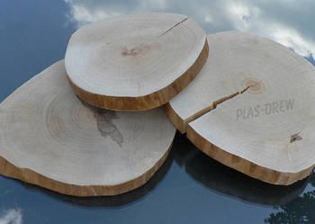Plastry drewna brzozowego o śr. 20-28 cm BEZ KORY!