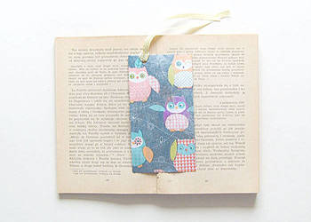 Sowy zakładka do książki, sówki zakładka, zakładka z sowami
