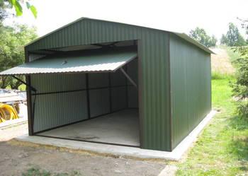 Garaż blaszany RAL 4x55 dwuspad Opolskie dowóz montaż gratis
