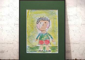 Chłopczyk, ręcznie malowana ilustracja dla dzieci