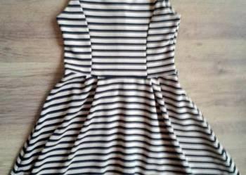 fd15c462 Sukienka Czarna Rozkloszowana Pikowana Złoty Zip Glam Rock S ...