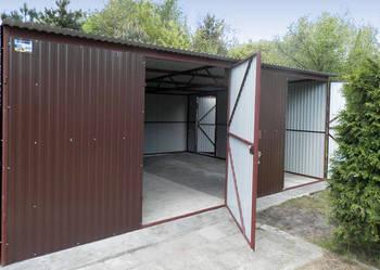 Garaż blaszany RAL 6x5 garaże blaszaki Lublin  montaż gratis