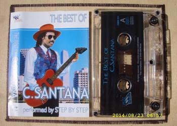 ROCK ,kaseta  ;C.  SANTANA--STEP BY STEP.