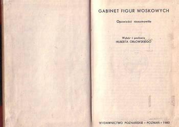 (9261) GABINET FIGUR WOSKOWYCH (OPOWIEŚCI NIESAMOWITE) – WYB