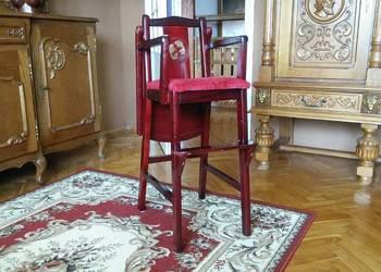 Krzesełko drewniane fotelik ludwik stylowe