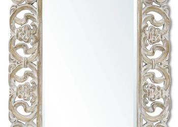 Stylowe prostokątne lustro w przecieranej ramie