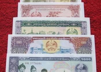 LAOS Kolekcjonerskie Banknoty Zestaw - 6 sztuk UNC