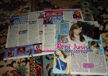 Sprzedam kolekcję o Reni Jusis - plakaty,materiały prasowe