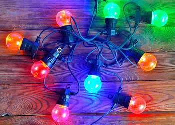 GIRLANDA ogrodowa 5 M LED lampki na kablu żarówki świąteczne
