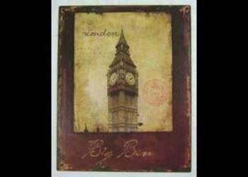 Big Ben obrazek blaszany plakat Londyn prezent