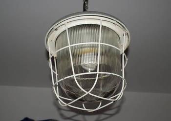 Lampa wisząca fabryczna loft industrial vintage PRL