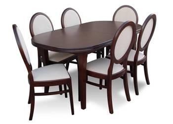 Stylowy Zestaw,Stół 80/140/180 + 6 Krzeseł!