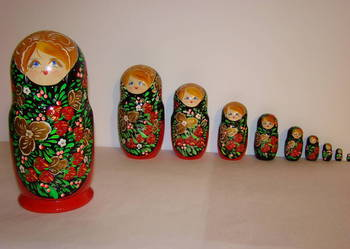 matrioszka, babuszka, lalka drewniana, sztuka, rękodzieło