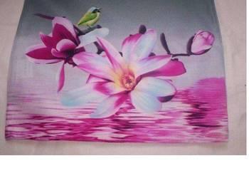 Poszewka powłoczka na poduszkę jasiek różowe magnolie ptasze