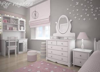 Białe meble dla dziewczynki