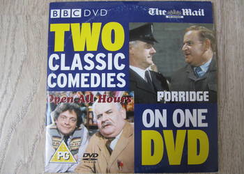 "Serial komediowy BBC na DVD ""Porridge"", "" Open all hours"""