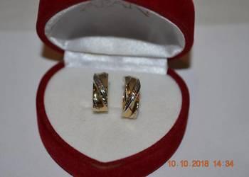 złote kolczyki 585 2,14 gram