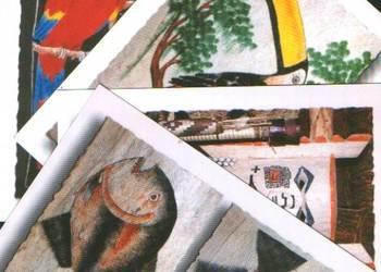 K.Poczt.8 szt. Sztuka Ludowa Indian Amazonii **