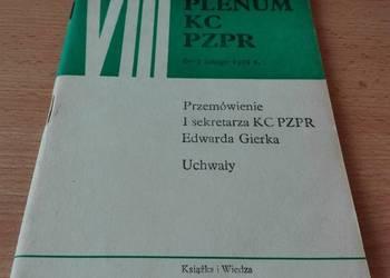 VIII Plenum KC PZPR 6-7 lutego 1971 przemówienie Gierka