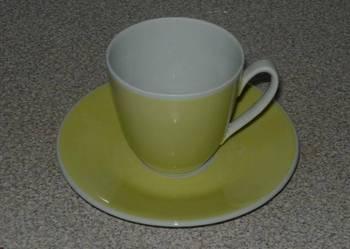 NOWA porcelanowa filiżanka do espresso CYTRYNOWA