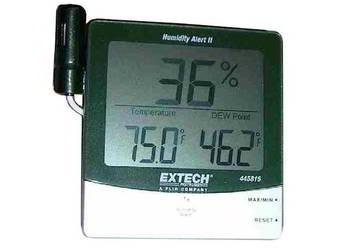 termohigrometr z alarmem