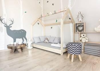 Drewniane Łóżko Dziecięce Domek Skandynawski Naturalne Sklep