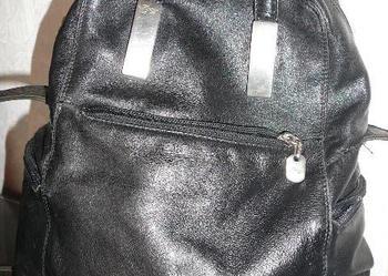 Torebka-plecak skórzana do ręki i jak listonoszka