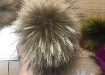 Duże pompony pomponiki do czapek z futra naturalnego jenot