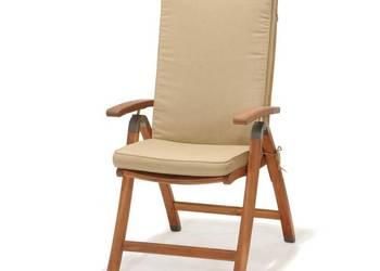 Krzeslo ogrodowe skladane z poduszka