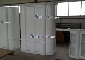 Producent mebli drewnianych, fornirowanych, szafa biały dąb
