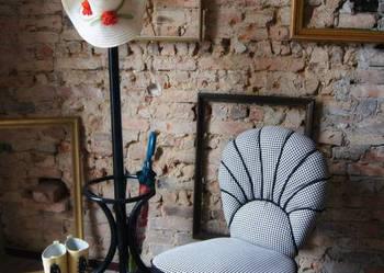 ***Stylowy fotel RETRO czerń i biel***